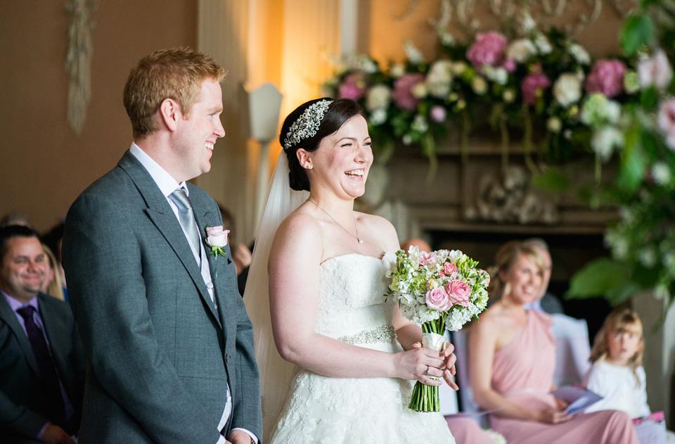 Pretty Pink Peonies and Pronovias for a Traditional English Wedding (Weddings )