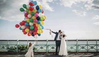 A Fabulous Vintage Bride and her Kitsch and Colourful 1960′s Inspired Brighton Wedding