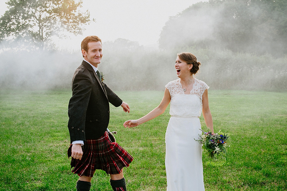 A Laidback and Fuss-Free English Country Wedding in the Autumn