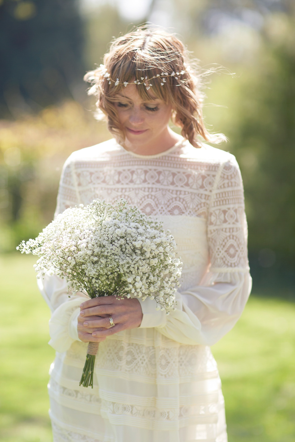 A short bohemian style temperley gown for a nature and for Nature inspired wedding dresses