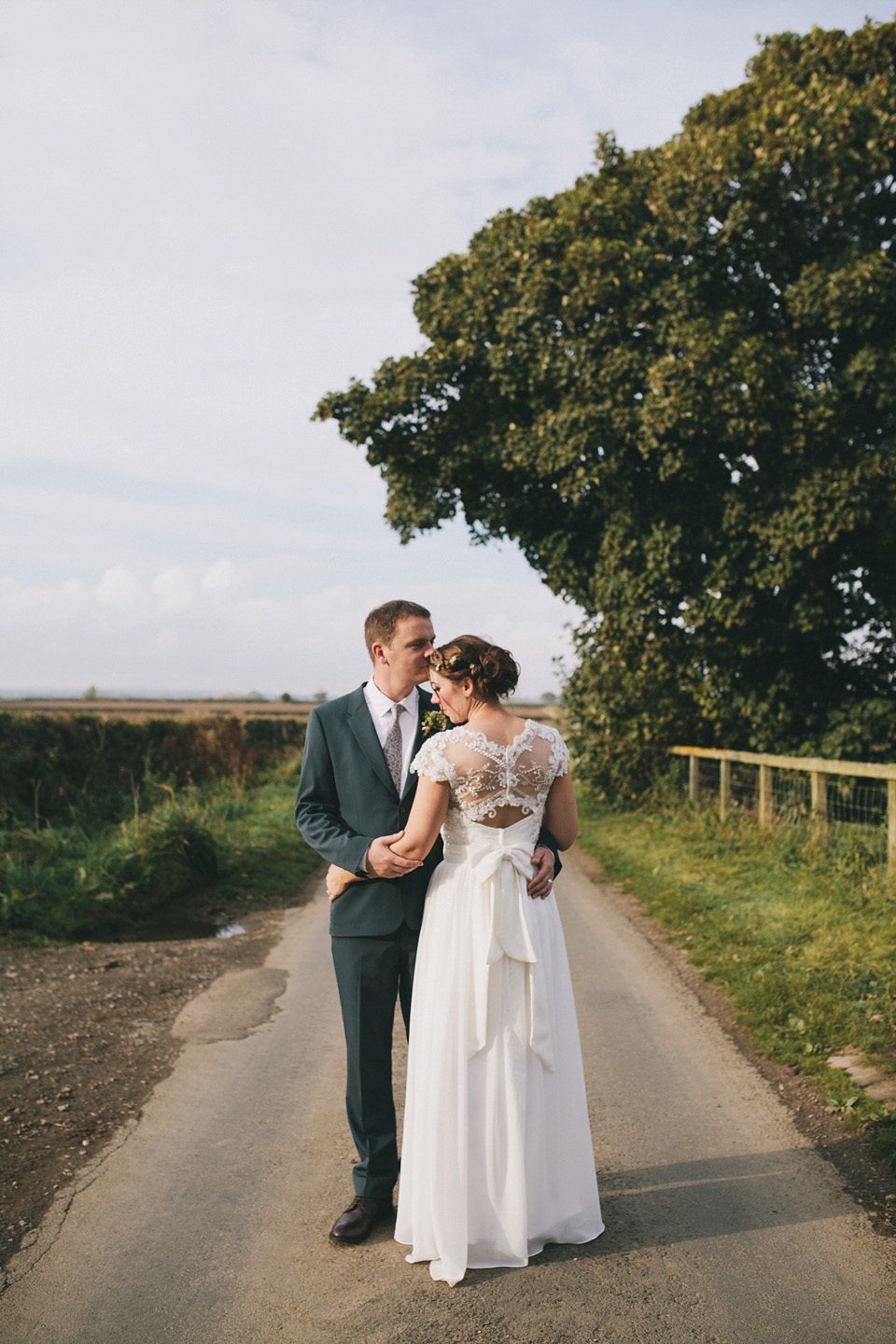 Flowers in Her Hair and a Rustic Autumn Yorkshire wedding