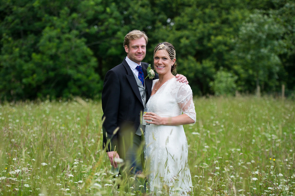 Sally Lacock Lace for a Colourful Midsummer Nights Dream Inspired Garden Wedding