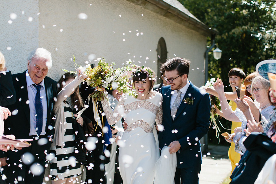 Rime Arodaky for a Relaxed, Informal, Fun and Flower-Filled Wedding in Scotland