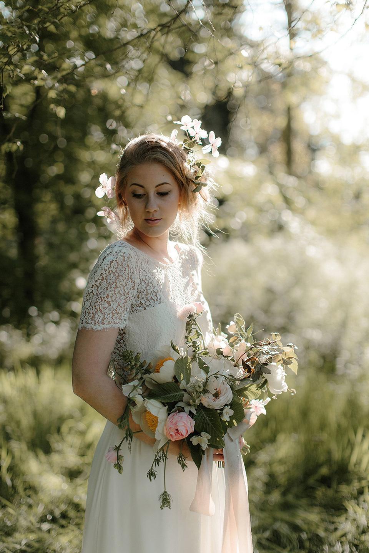 Fine Art Wedding Inspiration – An English Garden Romance With Seasonal British Blooms