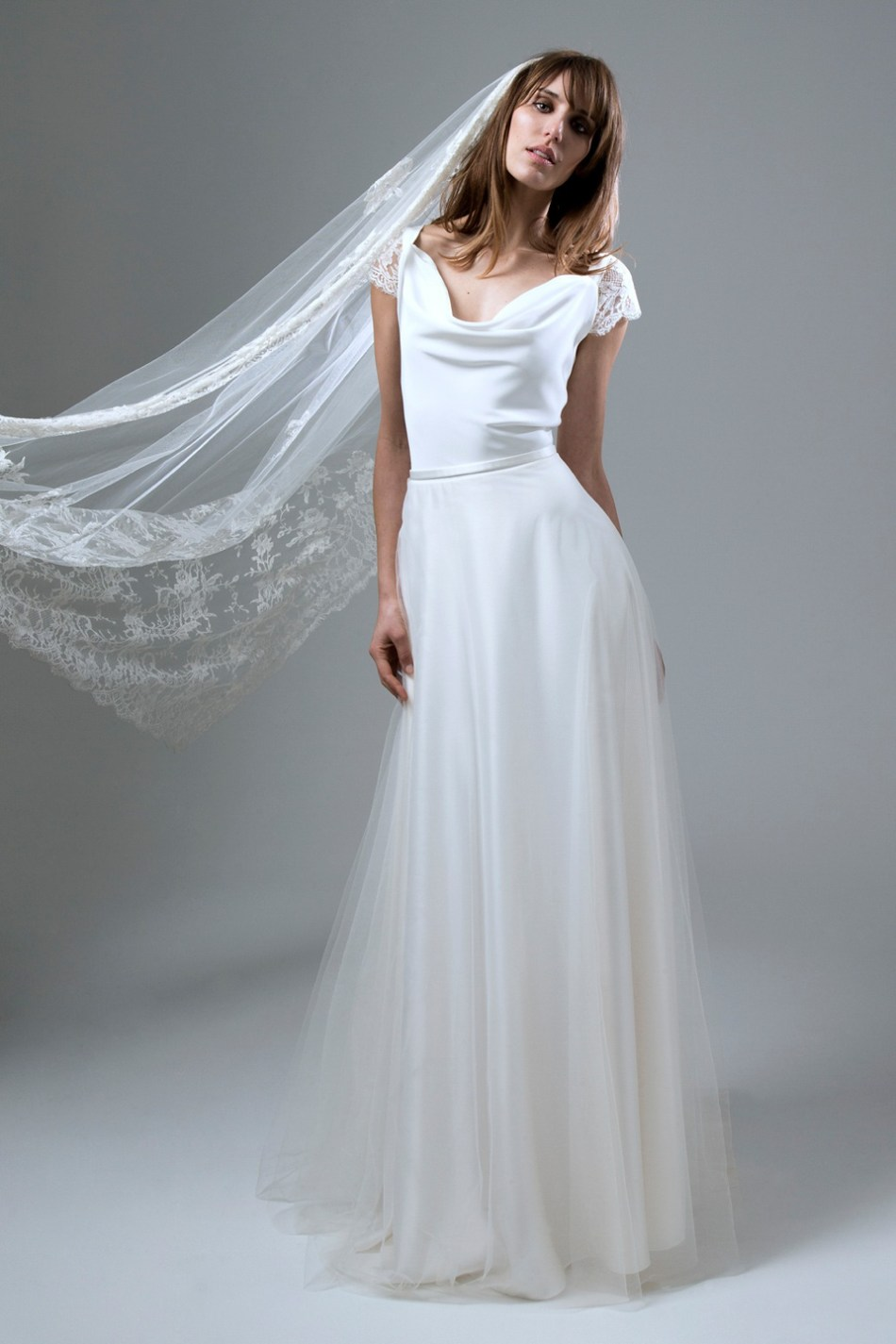 Halfpenny london 2016 bridal collection created and for Long silk wedding dress