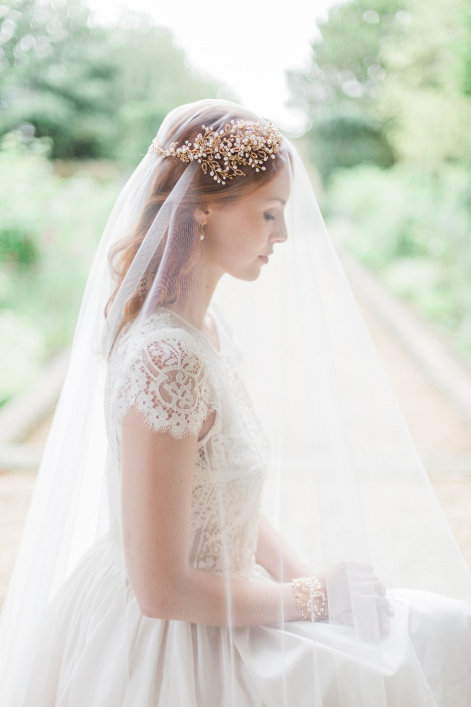 blog vine wedding dress headpiece