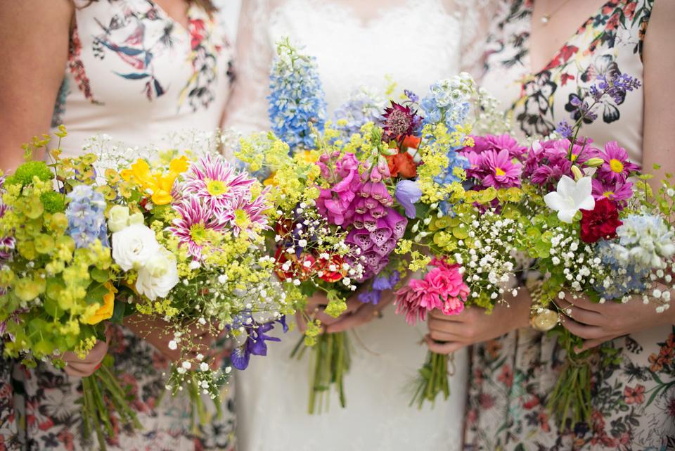 A Katya Katya Shehurina Gown for a Colourful Country Garden and Handmade Wedding (Weddings )