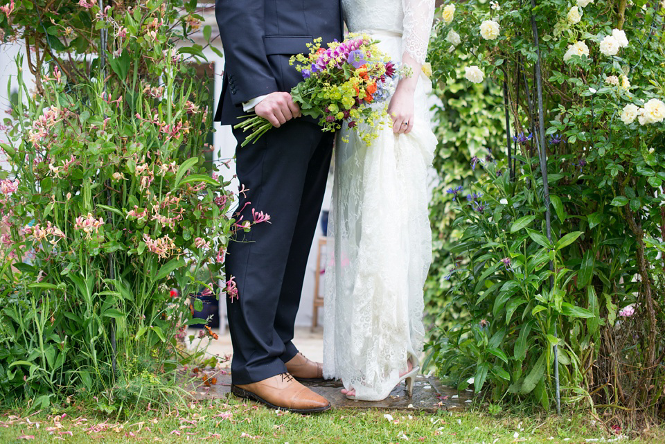 A Katya Katya Shehurina Gown for a Colourful Country Garden and Handmade Wedding (Weddings )
