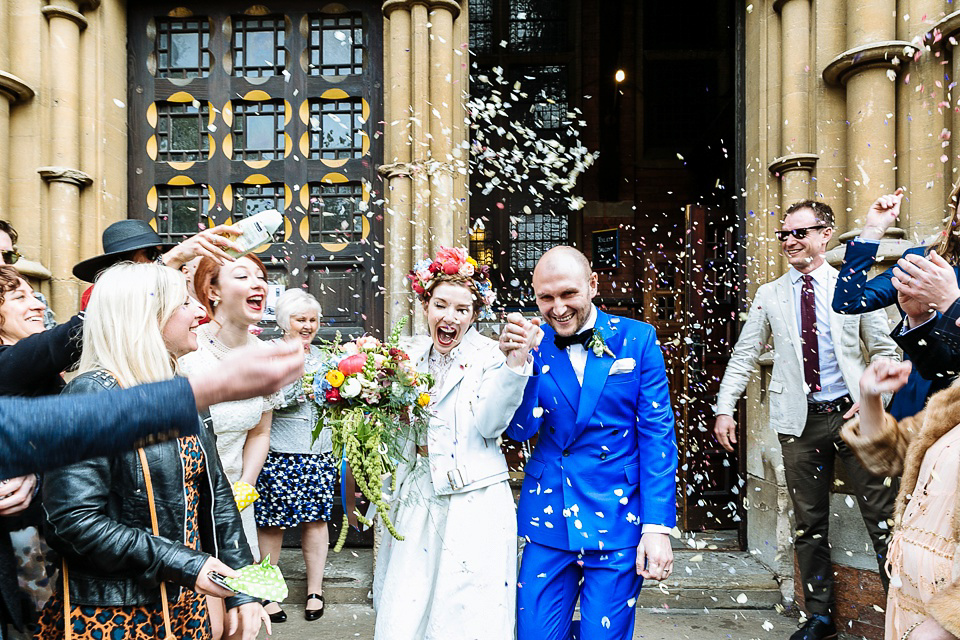 A Colourful and Cool East London and Frida Kahlo Inspired Wedding