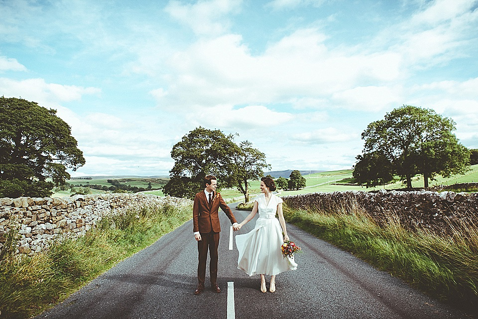 A 50's Inspired Tea Length Dress for a Vintage Wedding in North Yorkshire (Weddings )