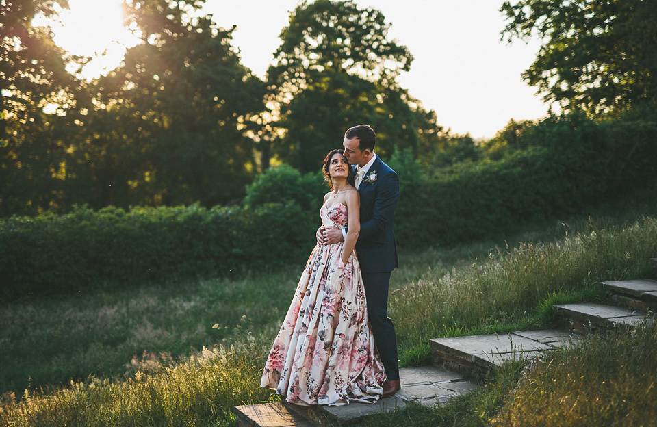 A Wendy Makin Floral Gown for a Rustic and Vintage Inspired Wedding