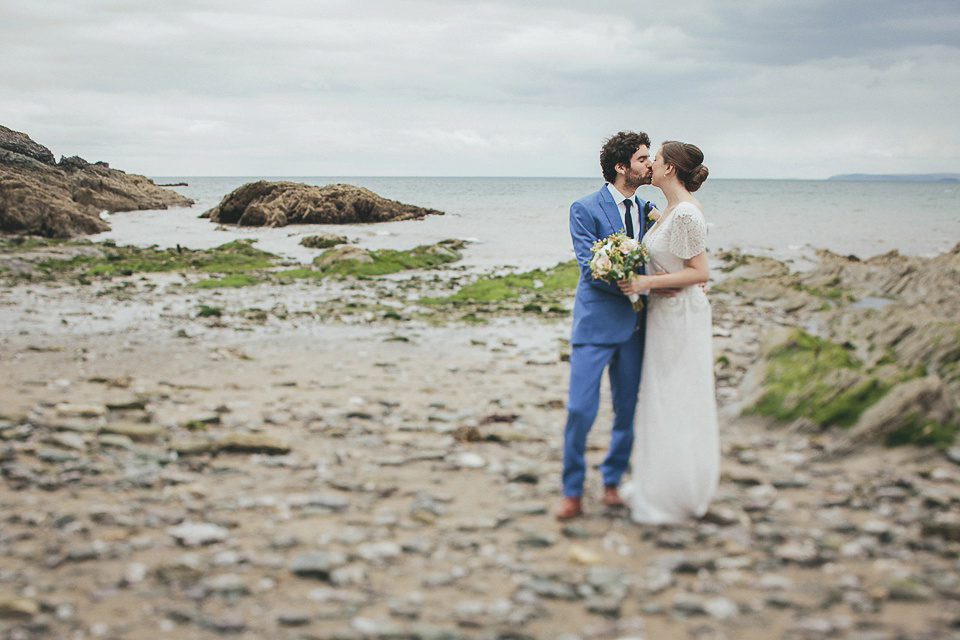 Eliza Jane Howell Glamour for a Cornish Wedding by the Sea (Weddings )