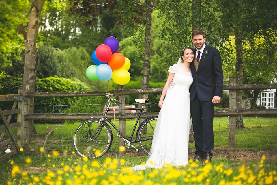 An Heirloom Veil for a Colourful, Homespun, Country Garden Wedding