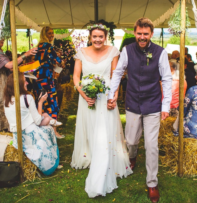 A Handmade and Rustic Style Yurt Wedding on the Family Farm