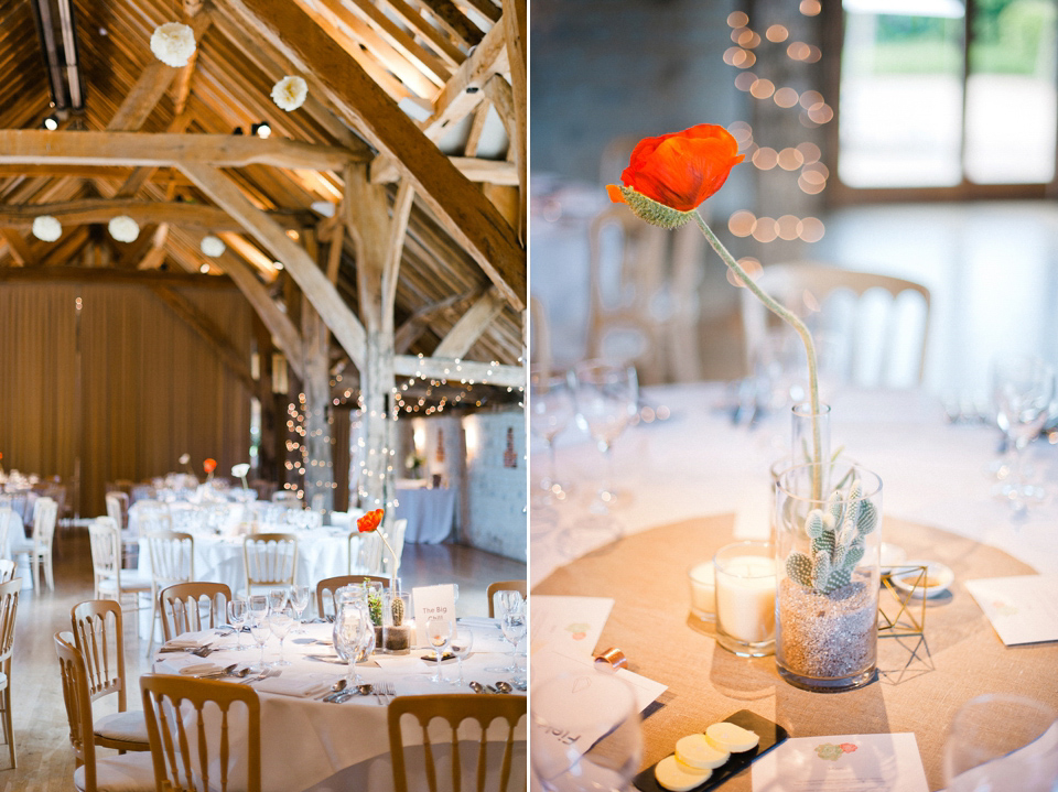 A Bright and Colourful, Geometric Inspired and Homespun Barn Wedding (Weddings )