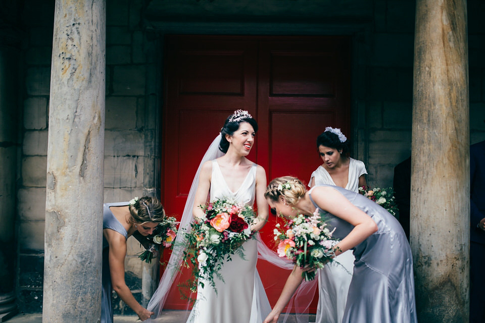 A Pleated Dress for a 1930's Inspired Kitsch and Glamorous City Wedding (Weddings )