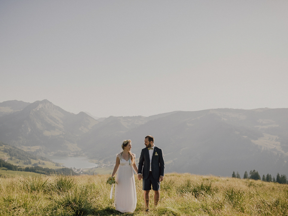 An Stephanie Wolff Paris Gown for a Swiss Mountain Elopement