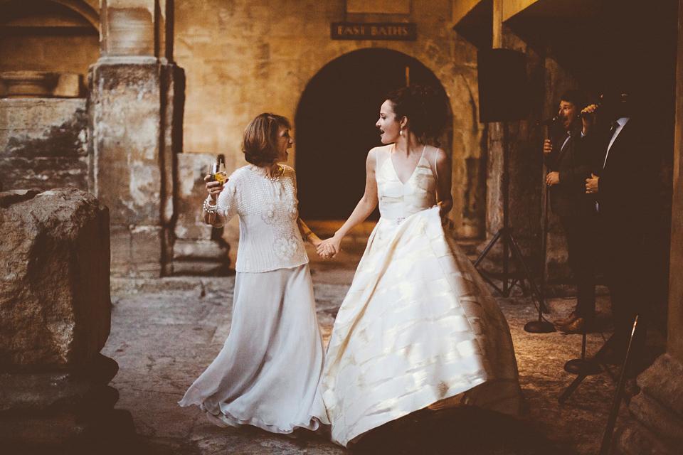 A Gold Wedding Dress for a Black Tie Roman Baths Celebration (Weddings )