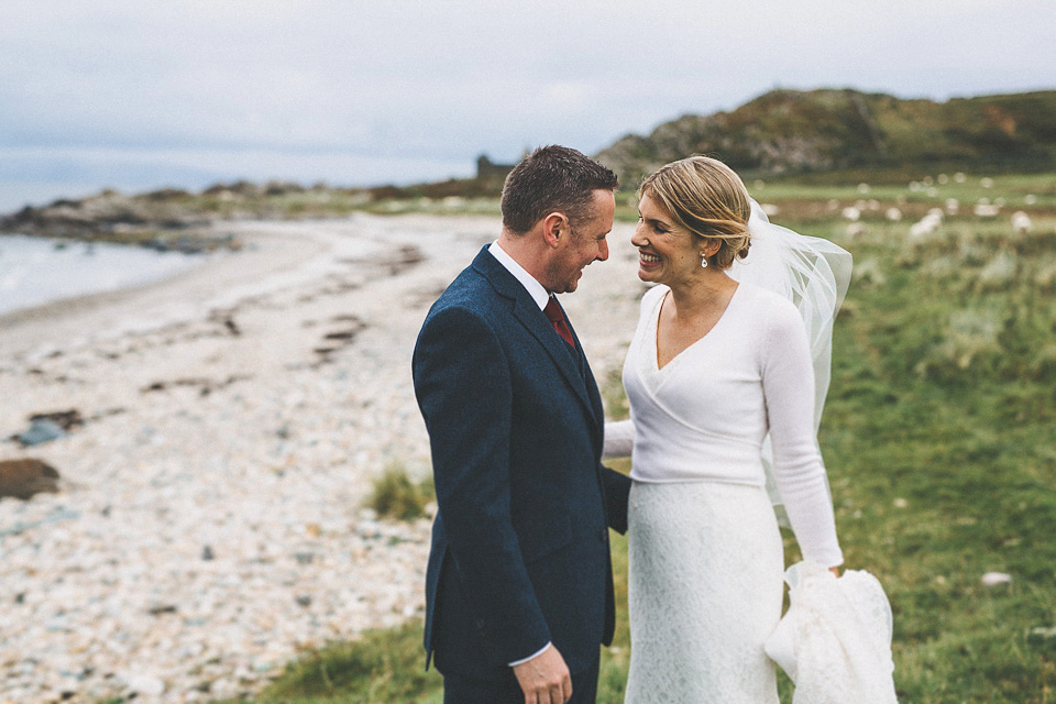 A First Look and Pronovias Gown for an Autumn Wedding at Crear In Scotland