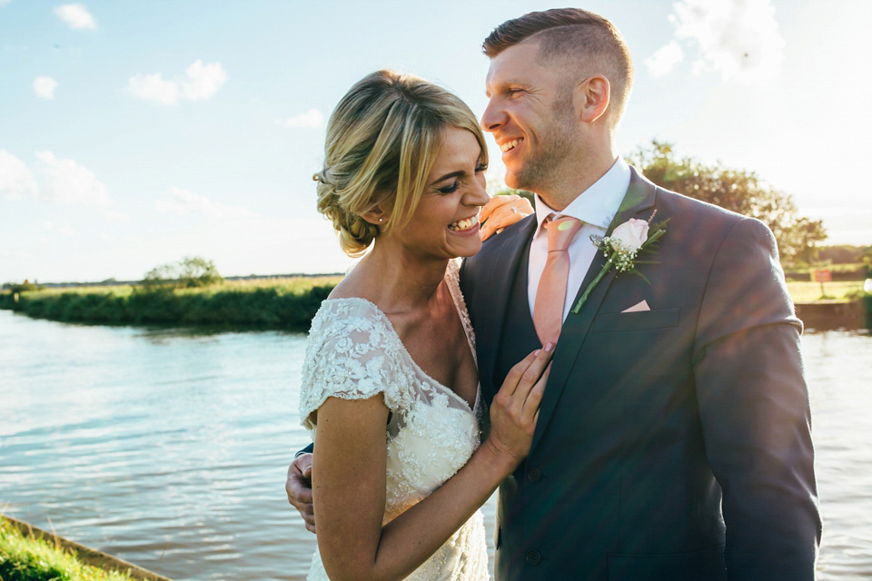 Maggie Sottero Lace for a Romantic Country Pub Wedding in Suffolk