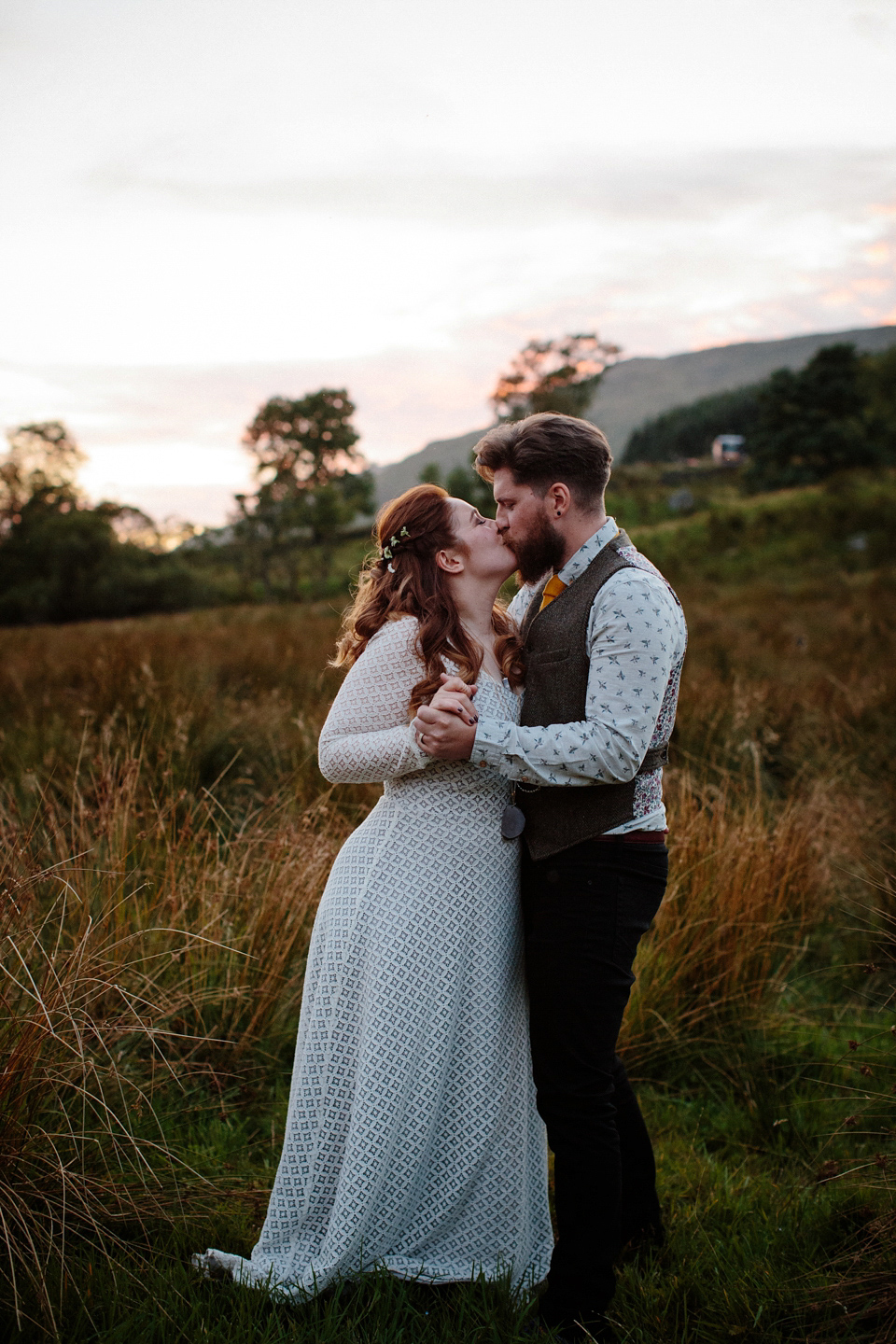 A 1970s and Icelandic Inspired Bohemian Wedding in Remote Scotland (Weddings )