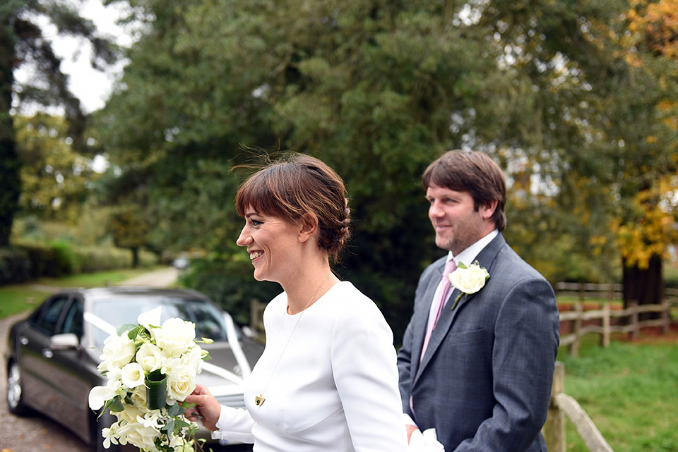 A Long-Sleeved and Backless Stella McCartney Dress for a Simple and Elegant Autumn Wedding (Weddings )
