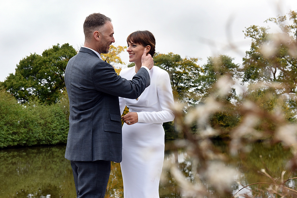 A Long Sleeved And Backless Stella McCartney Dress For A Simple And Elegant  Autumn Wedding | Love My Dress® UK Wedding Blog
