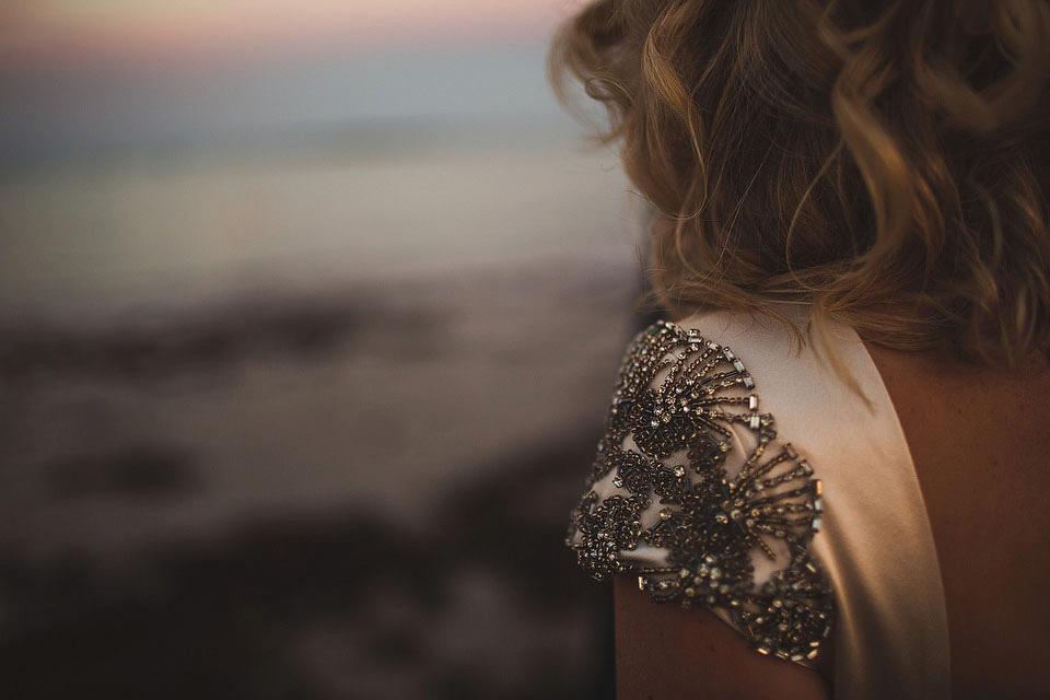 Johanna Johnson Bridal Glamour for a September Wedding by the Sea (Weddings )