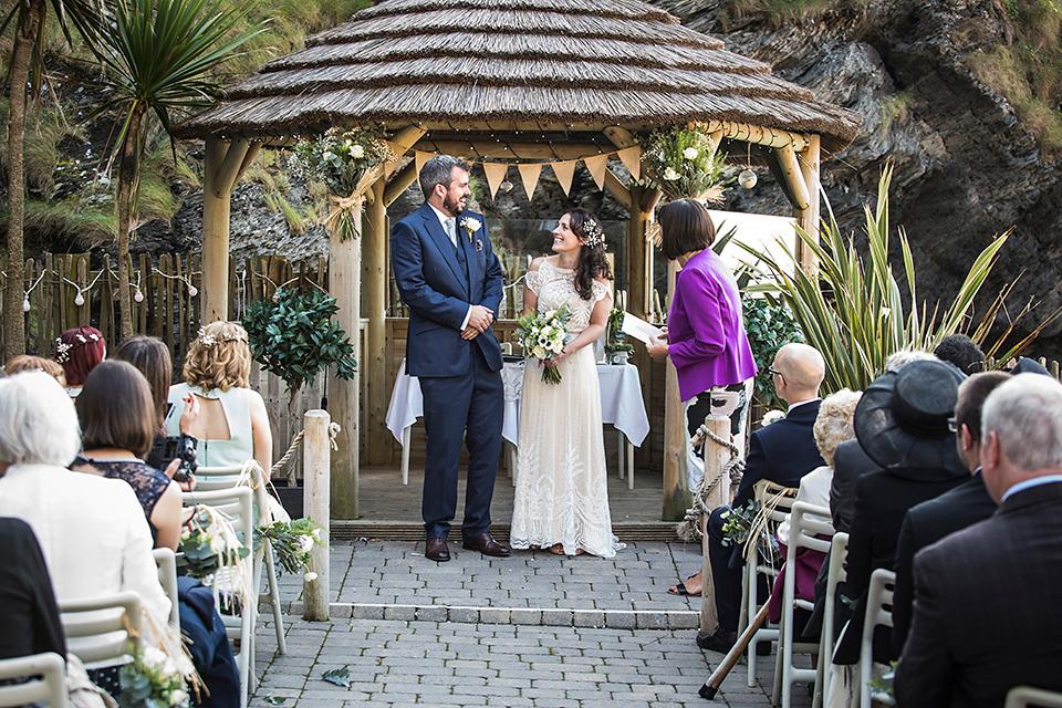 A Polka Dot Catherine Deane Dress for A Devon Seaside Wedding