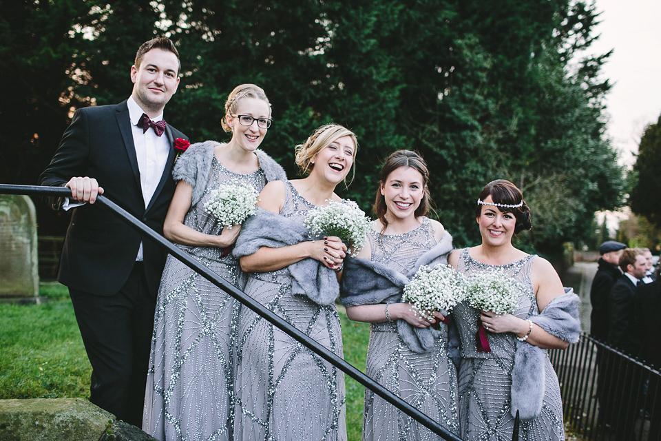 Mimosa by Jenny Packham for a 1920's Inspired Glamorous Winter Wedding on the Family Farm (Weddings )