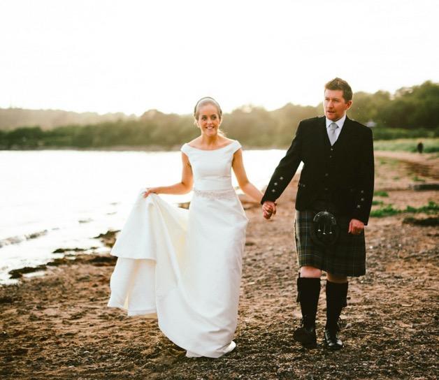 A Raimon Bundó Gown for an Elegant and Intimate Scottish Castle Wedding