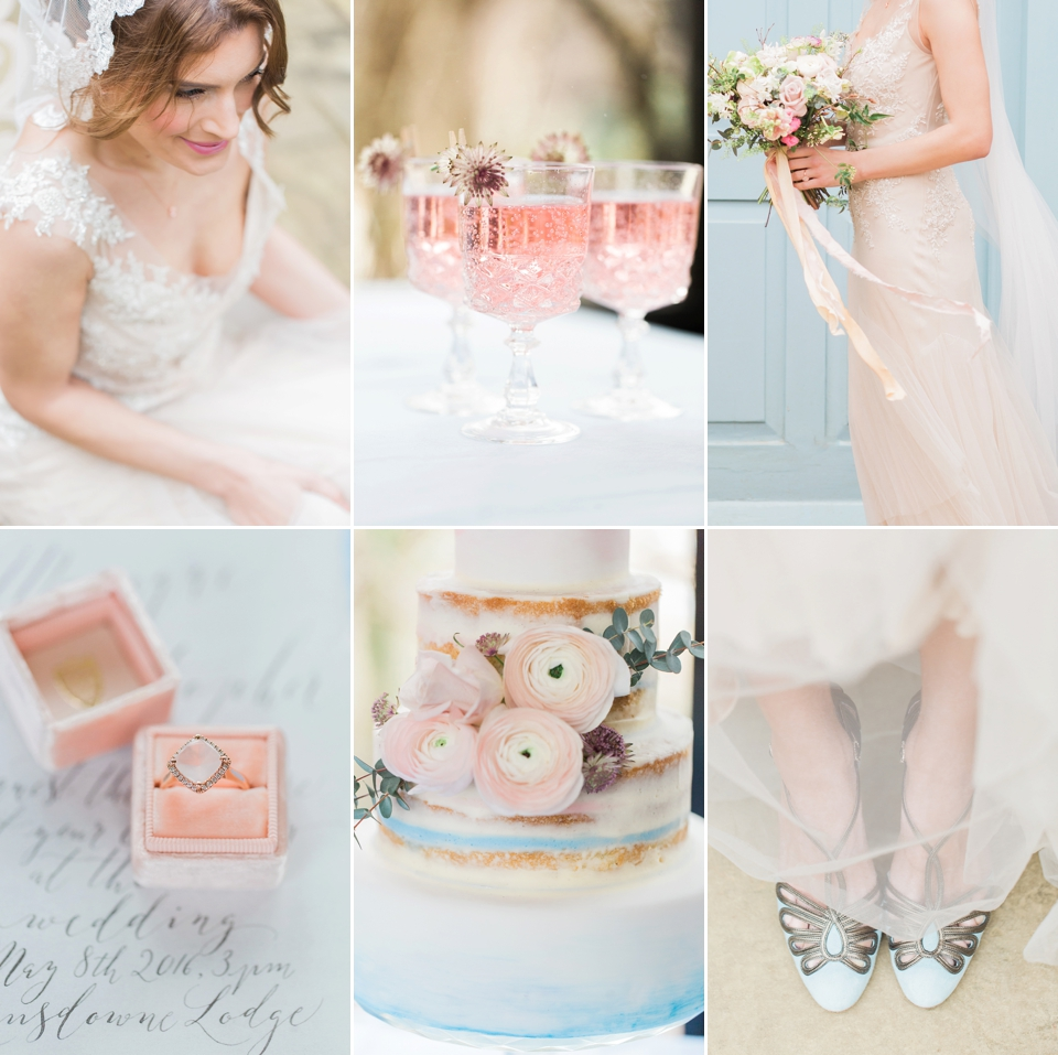 Rose Quartz & Serenity: Bridal Style with Pantone Colours of the Year for 2016