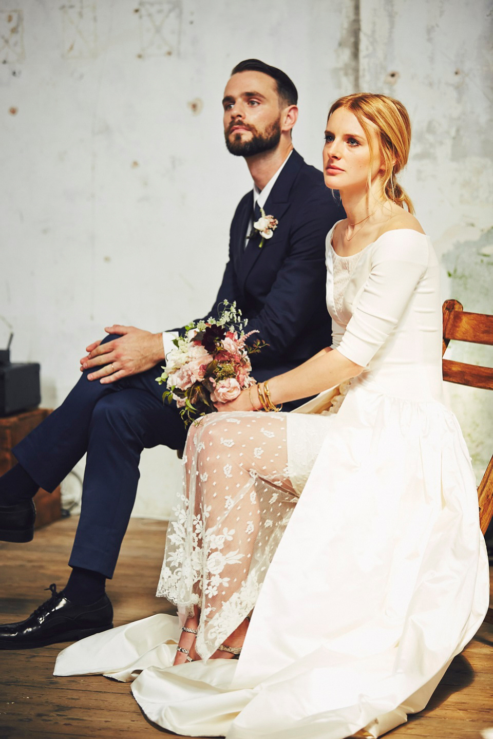 Two dresses and Two Ceremonies for a Cool, Modern Wedding in a Deconsecrated Church (Weddings )