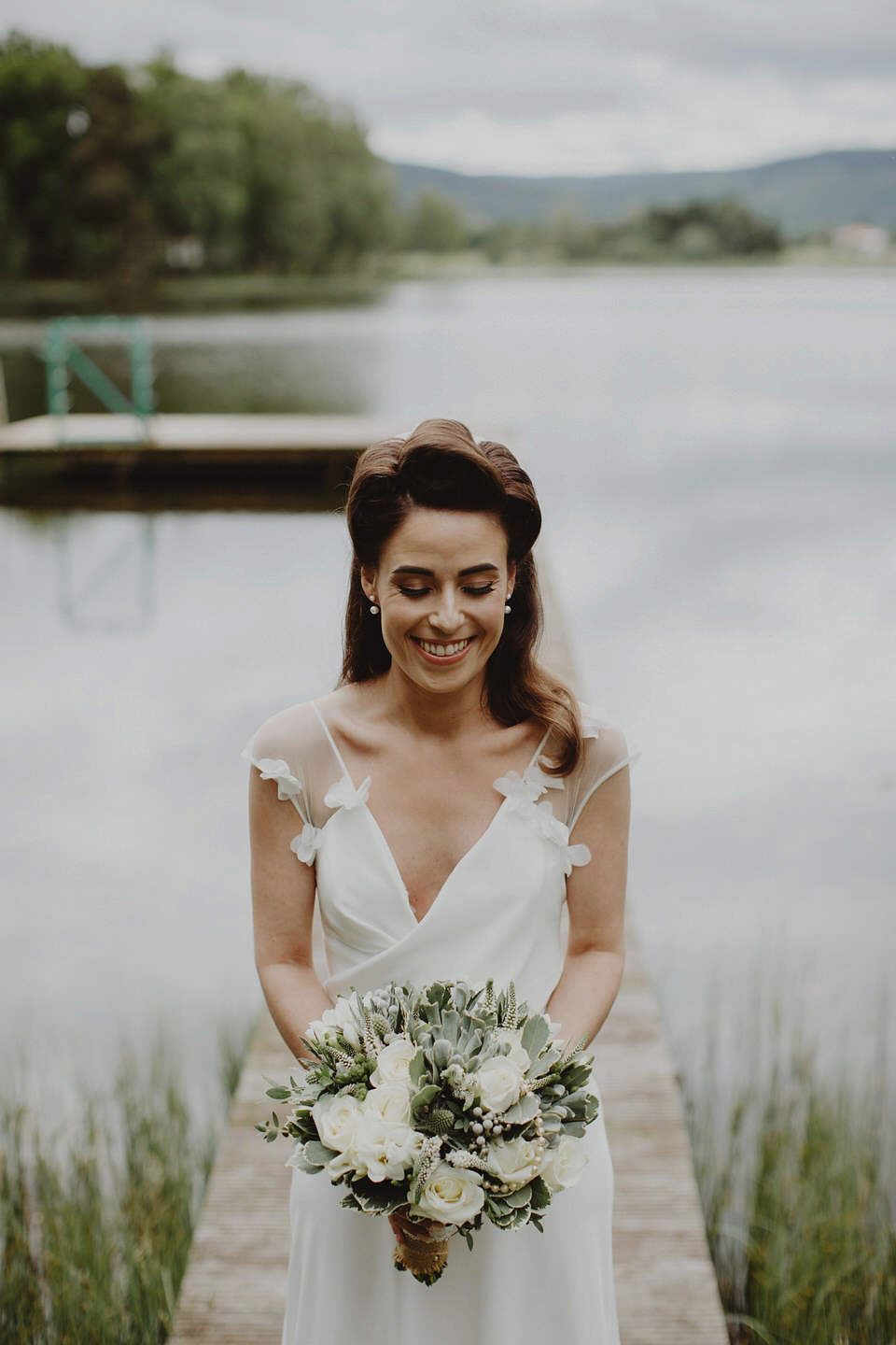 A david fielden gown for a relaxed and nature inspired for Nature inspired wedding dresses