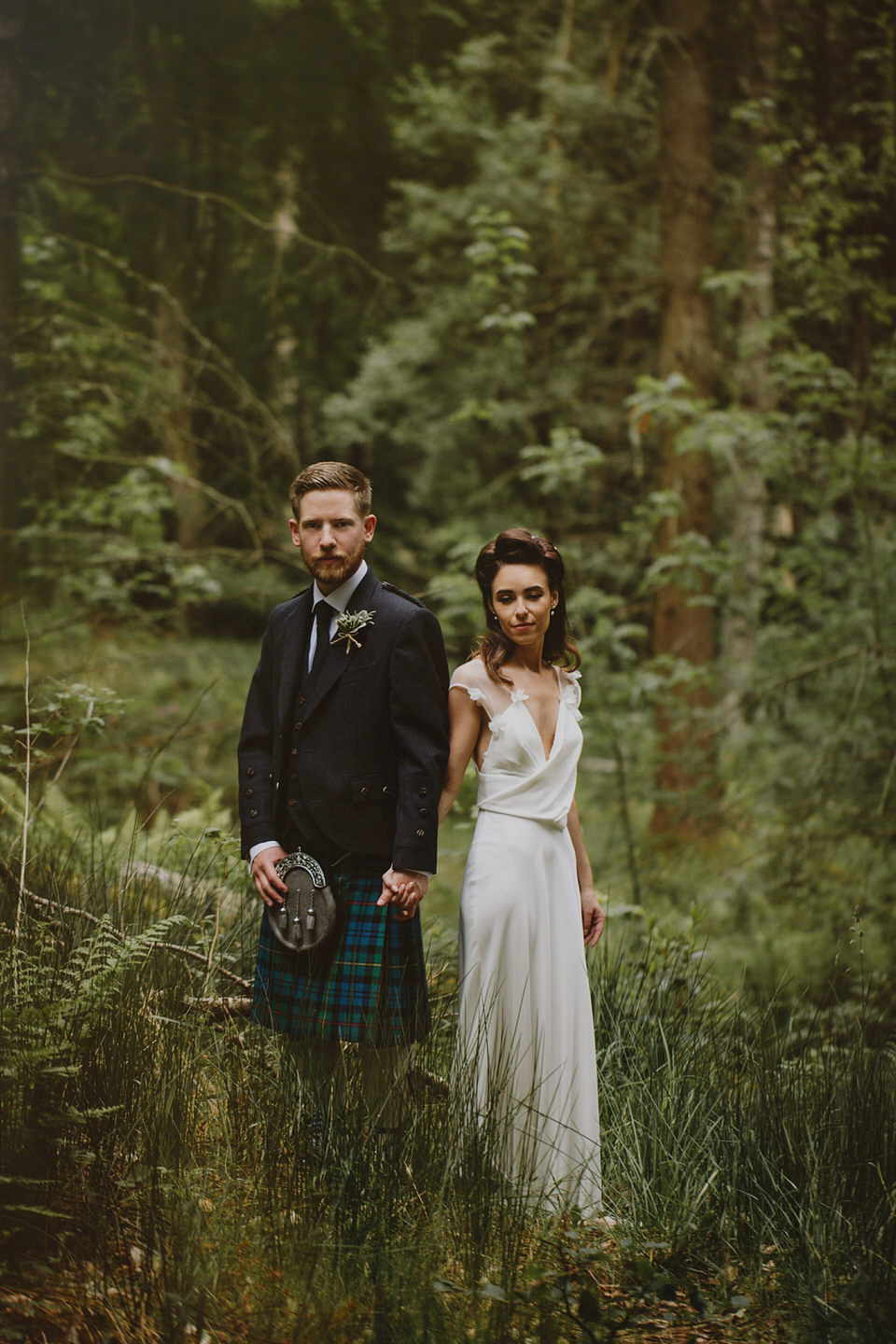 A david fielden gown for a relaxed and nature inspired for Nature themed wedding dress
