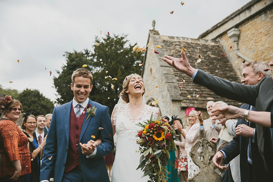 Sunflowers And Rustic Autumn Shades For A Handmade Cotswolds Wedding