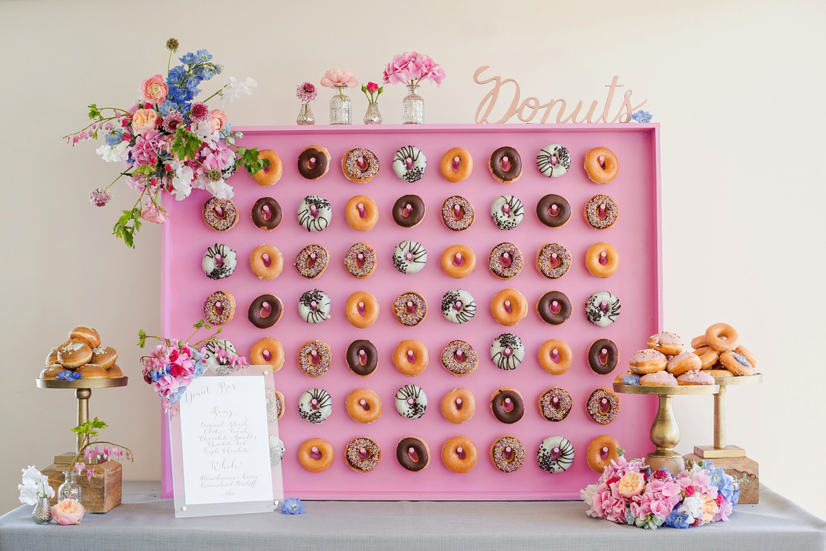 Kalm Kitchen's Donut Wall, Liquid Nitrogen Ice cream Bar and other Creative Catering Ideas