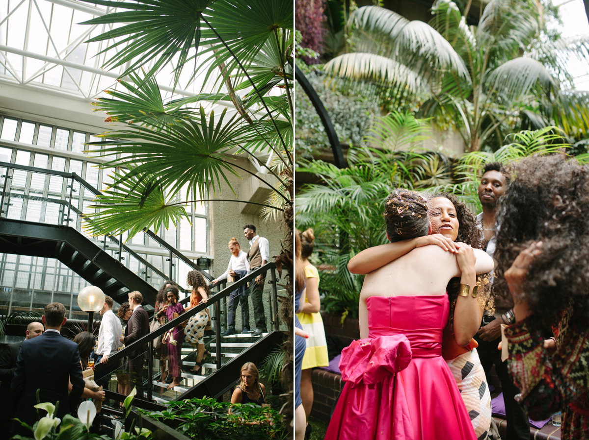 A Pink Candy Anthony Dress For A Colourful Wedding At The Barbican (Weddings )