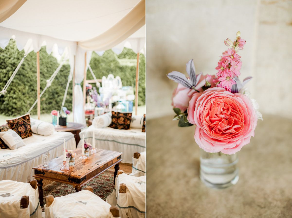 Maggie Sottero for a Colour and Flower Filled English Country Garden Wedding (Weddings )