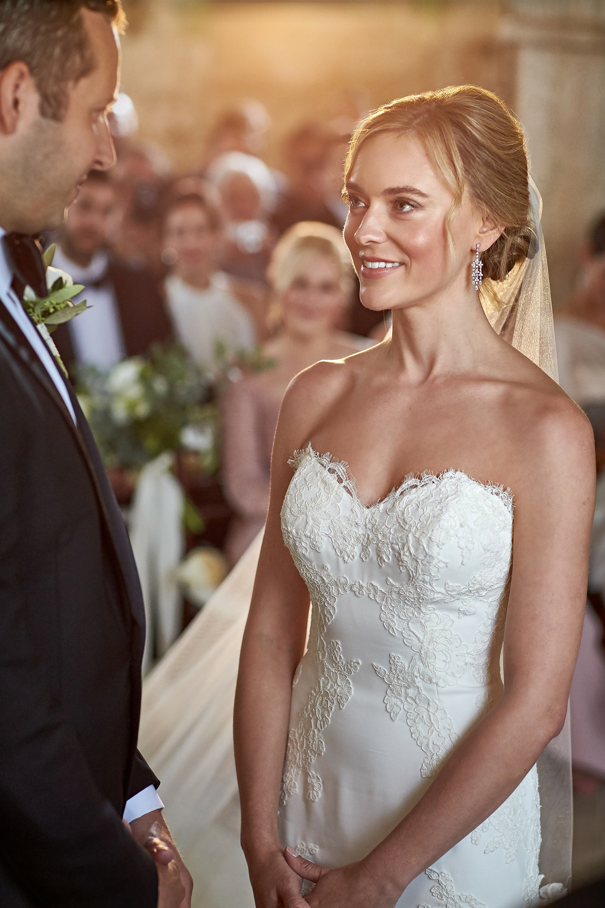 Black TIe Elegance and Ines di Santo Lace for an Elegant Villa Wedding in Tuscany (Weddings )