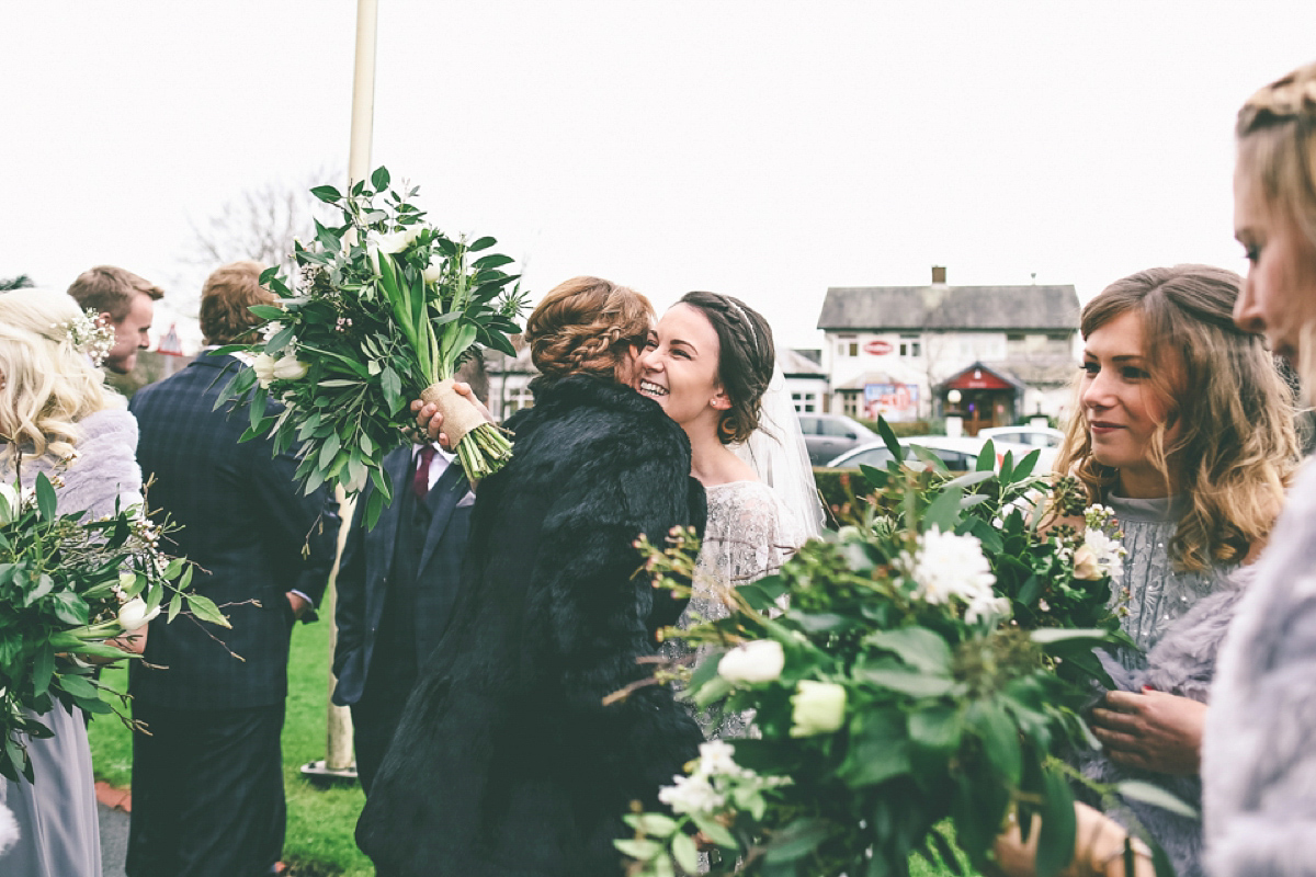 Eliza Jane Howell Glamour for a Relaxed Winter Village Hall Wedding (Weddings )