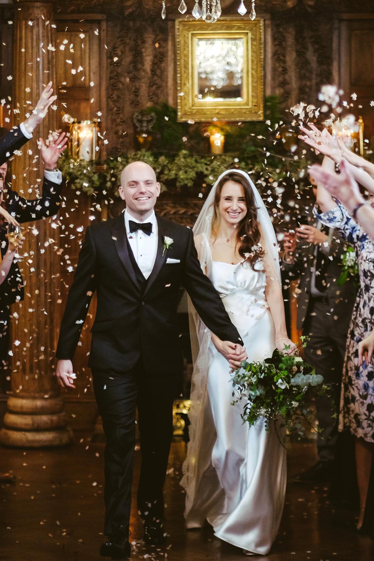 An Elegant Black Tie Winter Wedding at Ellingham Hall Northumberland