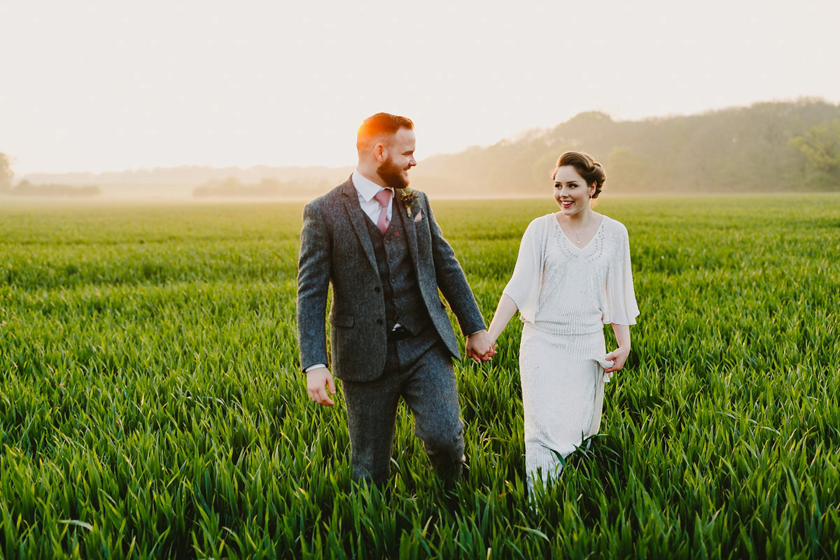 An Eliza Jane Howell Gown for a Downton Abbey and Vintage Glamour inspired Countryside Wedding