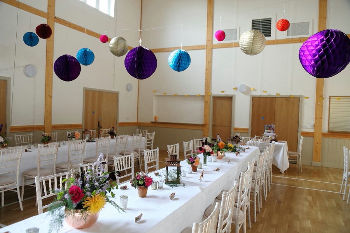 A Sequin Dress for a Florist Bride and her Colourful Village Hall Wedding (Weddings )