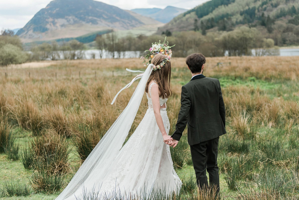 A YolanCris Dress for a Rustic Lake District Wedding with Intimate Charm