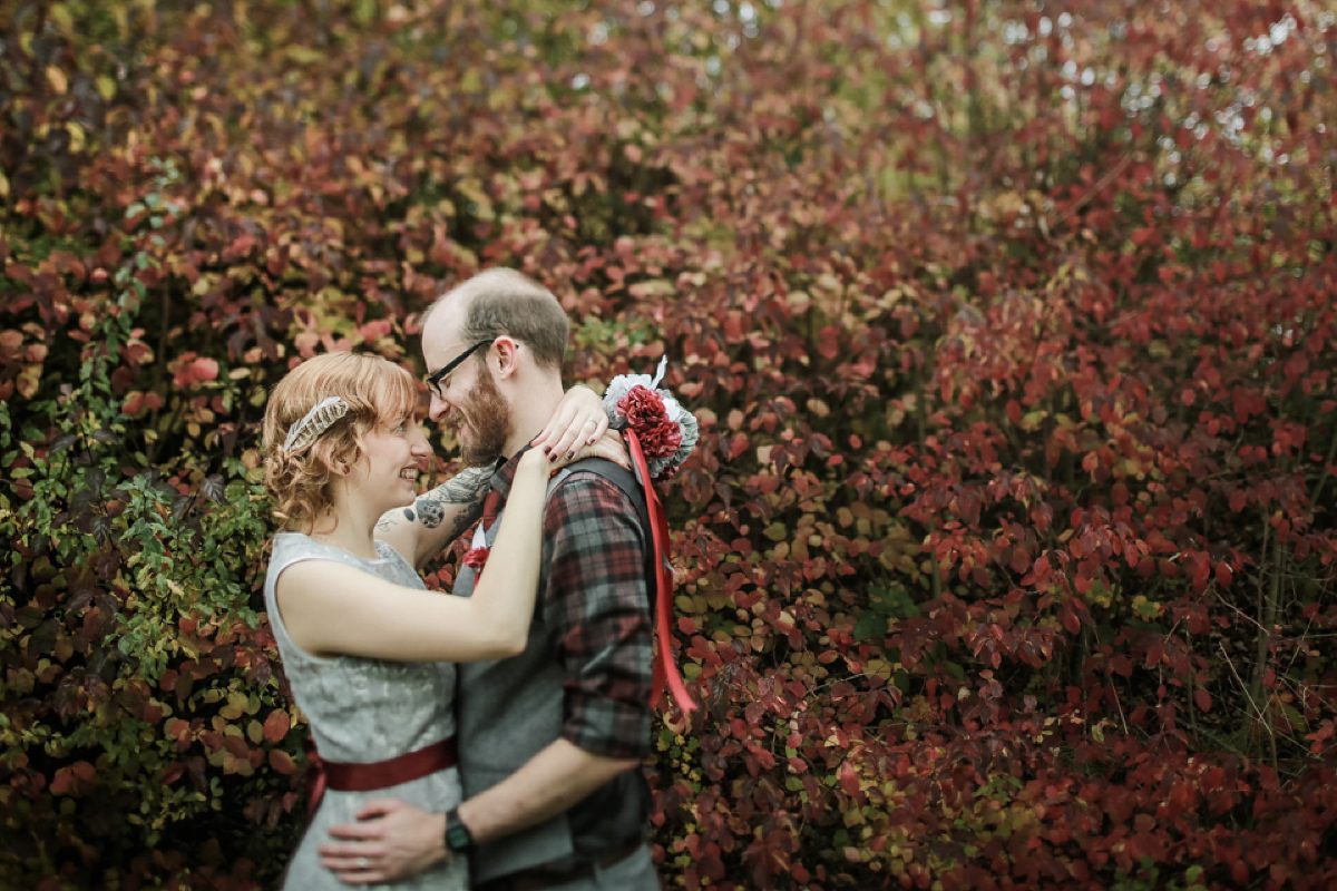 Handmade Joy and A John Lewis Dress for a Nature Inspired, Alternative Style Autumn Wedding