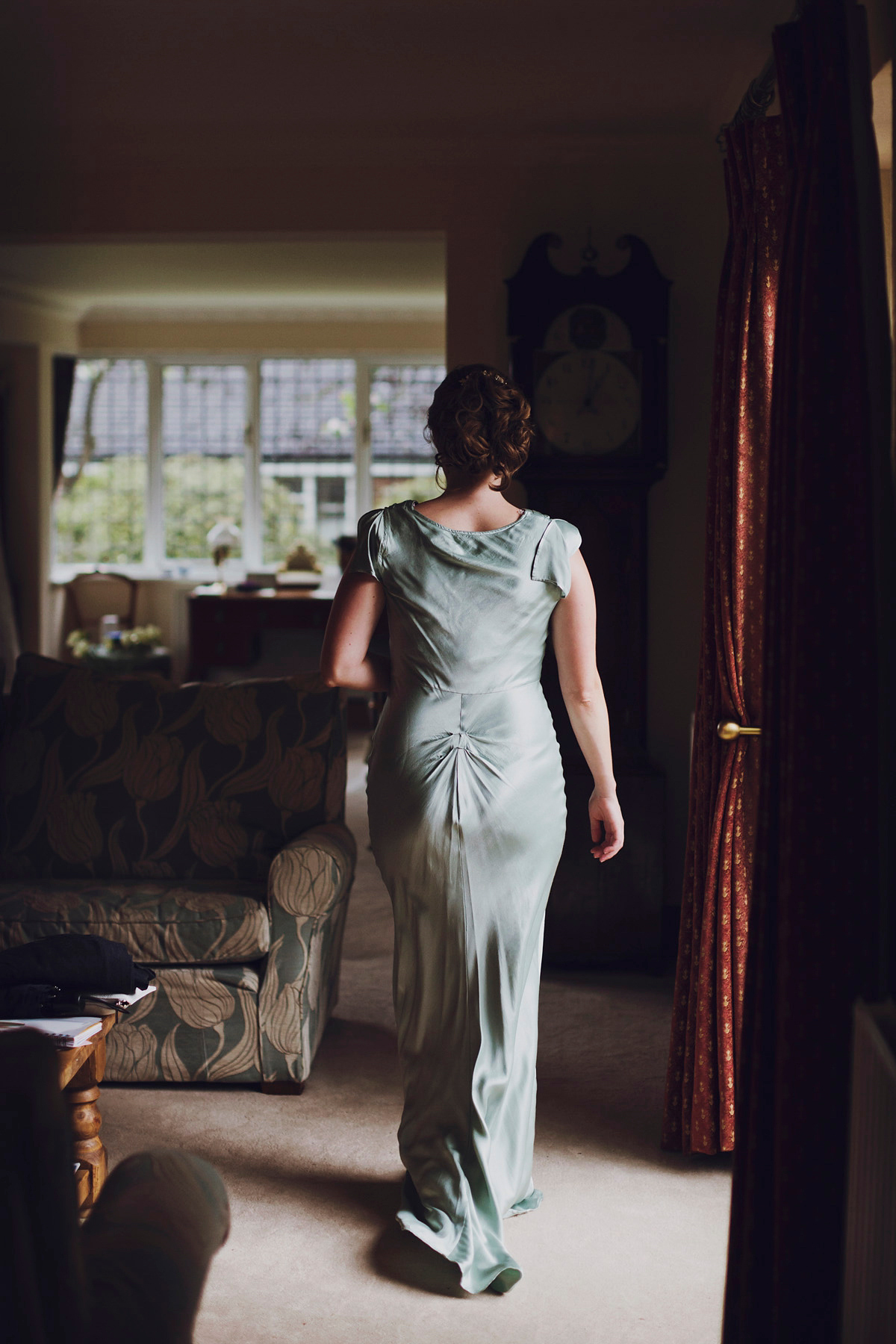 A Watters Dress for a Charming Rainy Day English Country Garden Party Wedding (DIY Projects Weddings )
