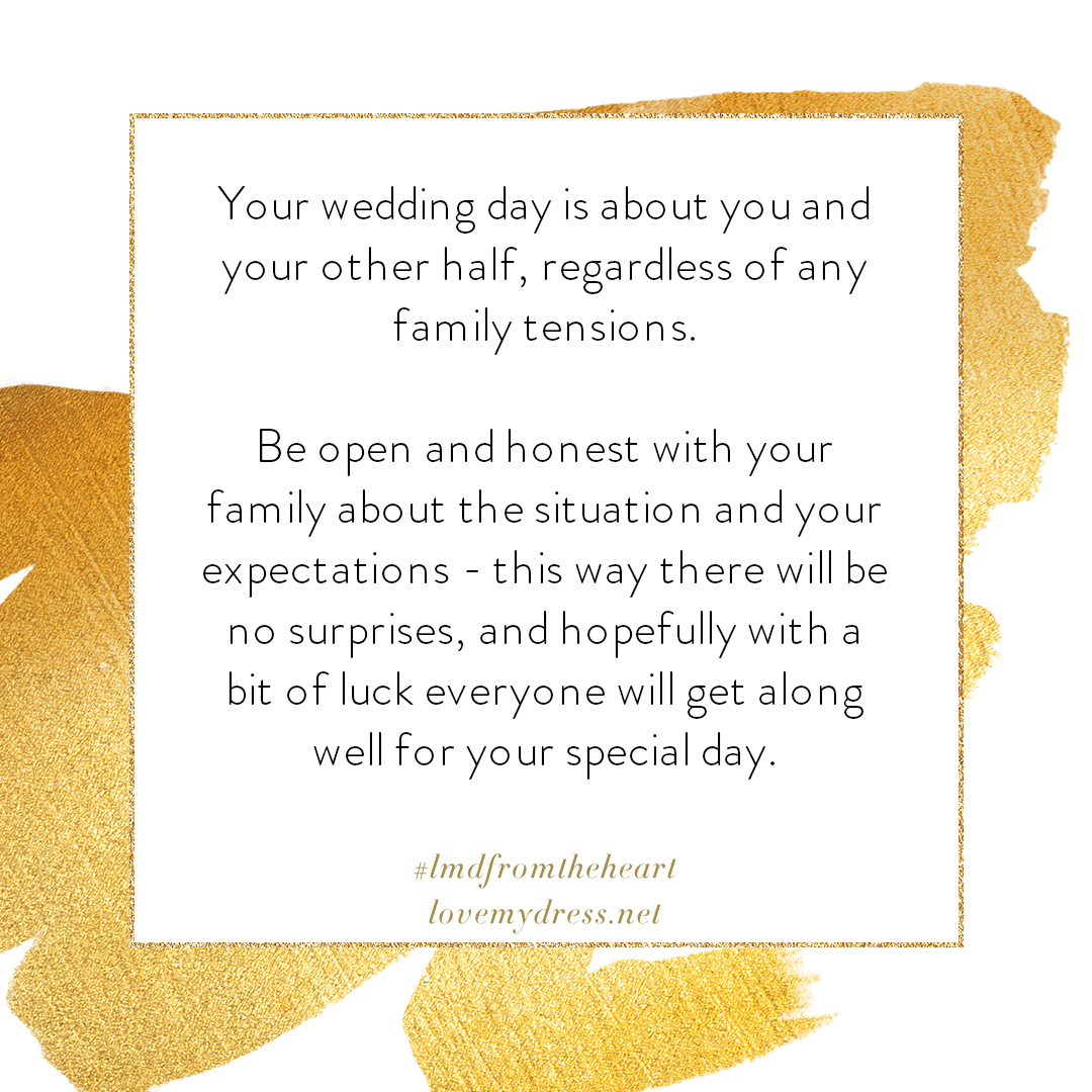 From The Heart – The 'Parent Trap', Dealing with Divorce at your Wedding