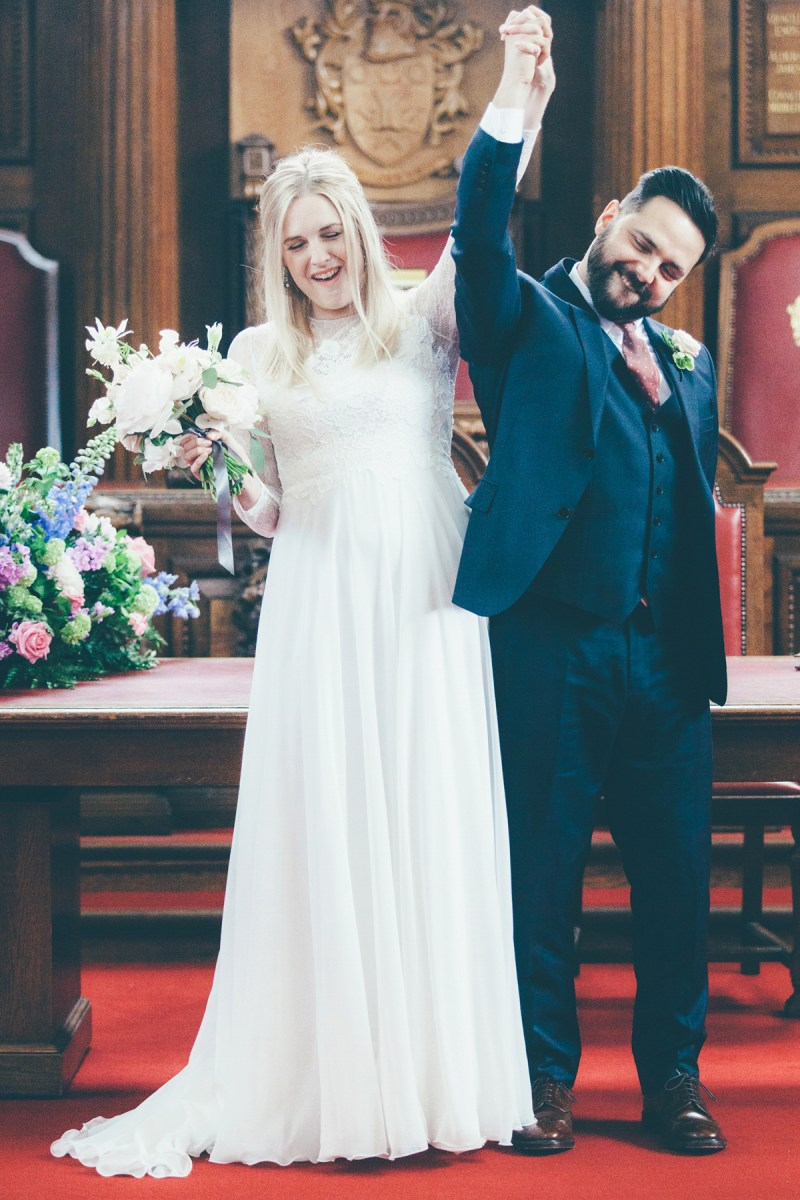 Jesus Piero and Sophia Webster Shoes for a Stripped Back London Wedding