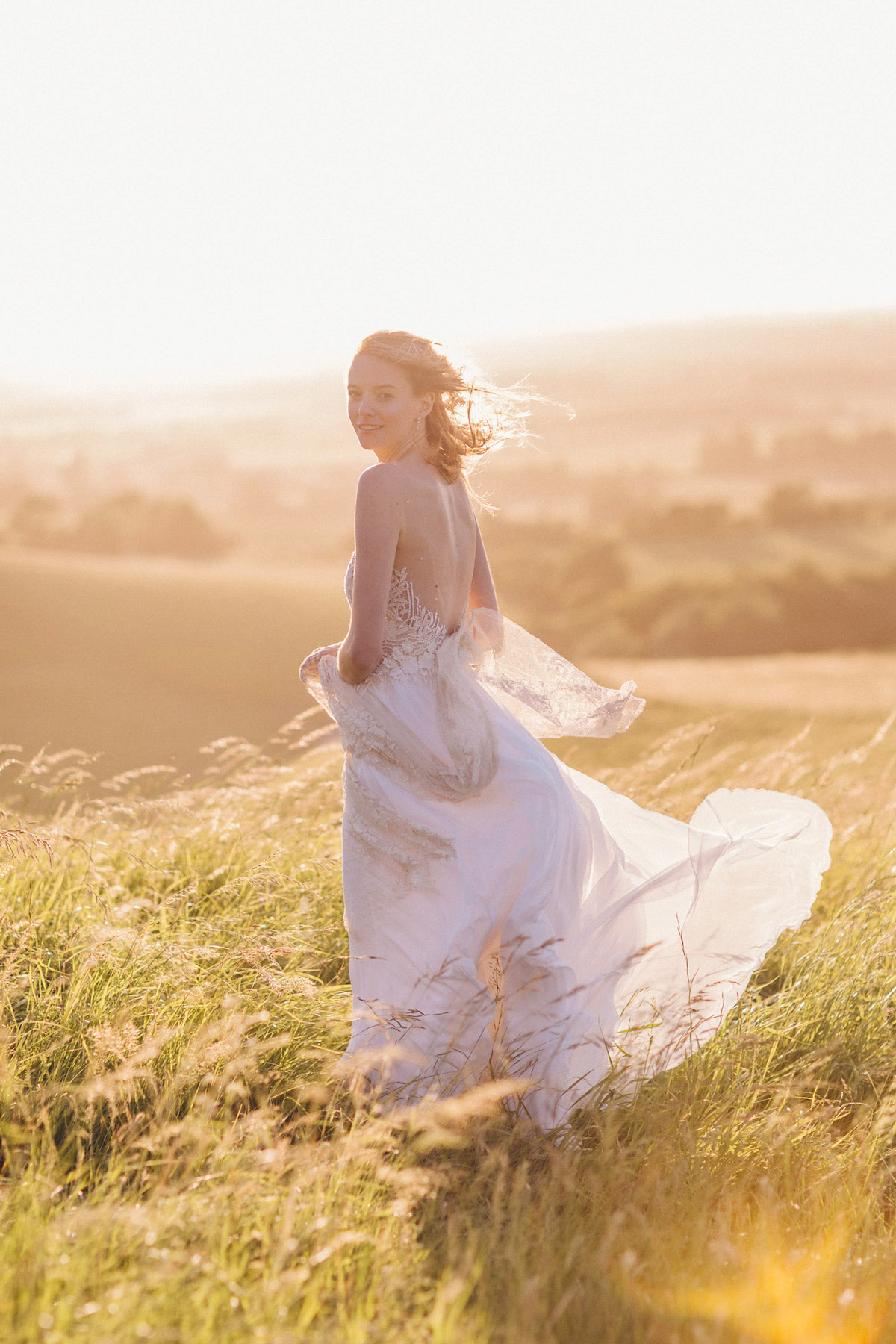 A joyous outdoor and nature inspired christian wedding for Nature inspired wedding dresses